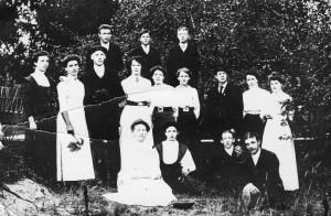 Logen Majblomman 1910, komplett lista på namn finns